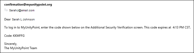 Security Verification Email
