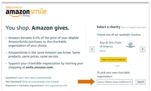Amazon Smile Instructions #1